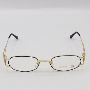 Womens Black and Gold Funky Glasses Essence